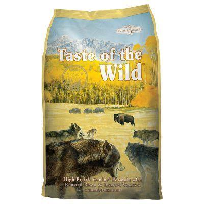 Taste of the Wild High Prairie hondenvoer wordt in Amerika van delicaat wild en bizonvlees met veel groente en fruit vervaardigd#De granenvrije formule is verrijkt met gezonde zoete aardappelen en erwten#geeft uw hond in alle levensfasen natuurlijke antioxidanten en ondersteunt zijn gezonde immuunsysteem.