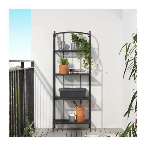 LÄCKÖ Shelving unit, outdoor, gray