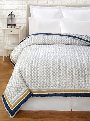 39% OFF Suchiras Indigo Quilt (Navy Blue/Light Blue/Beige)