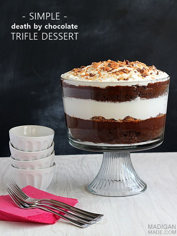 simple by chocolate trifle dessert this looks amazing and i how easy it is to make