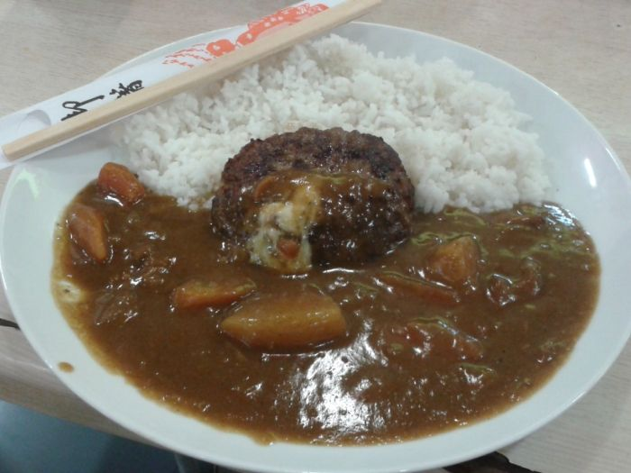 Japanese Beef Cheese Hamburger Curry..