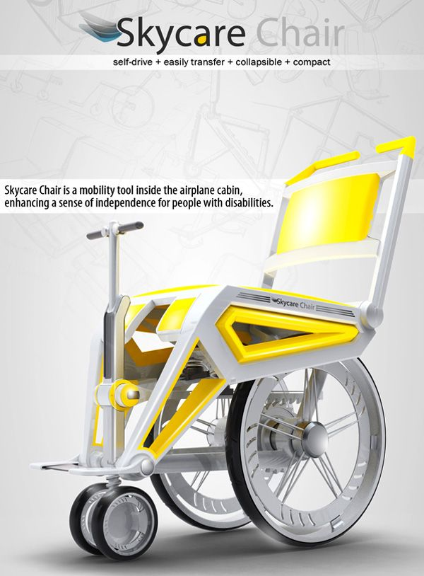 This is amazing! A #Wheelchair designed to fit on a plane. #Travel must have for #seniors