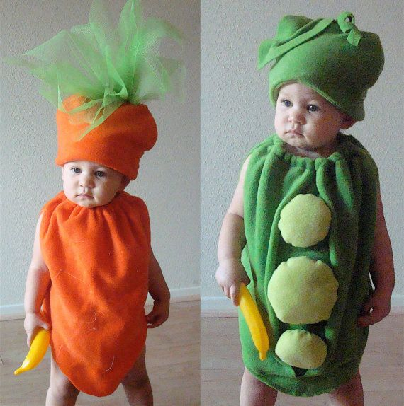 Twin Set- Peas and Carrots Baby or Toddler Costumes