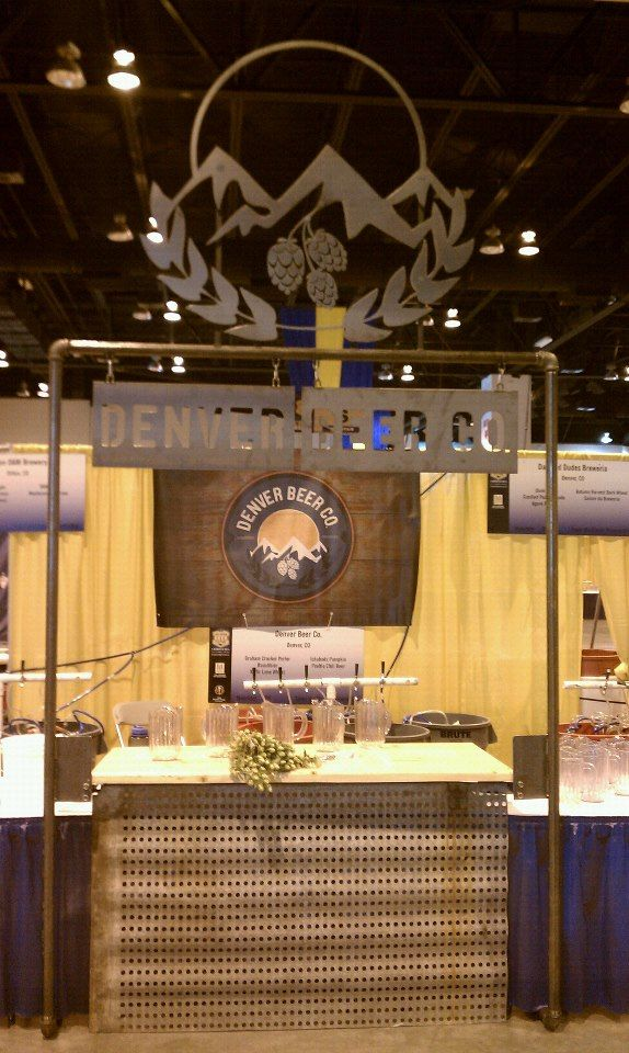 Simple booth made for Denver Beer Co. at the Great American Beer Festival. Denver, CO. #TSE #GABF #DenverBeerCo