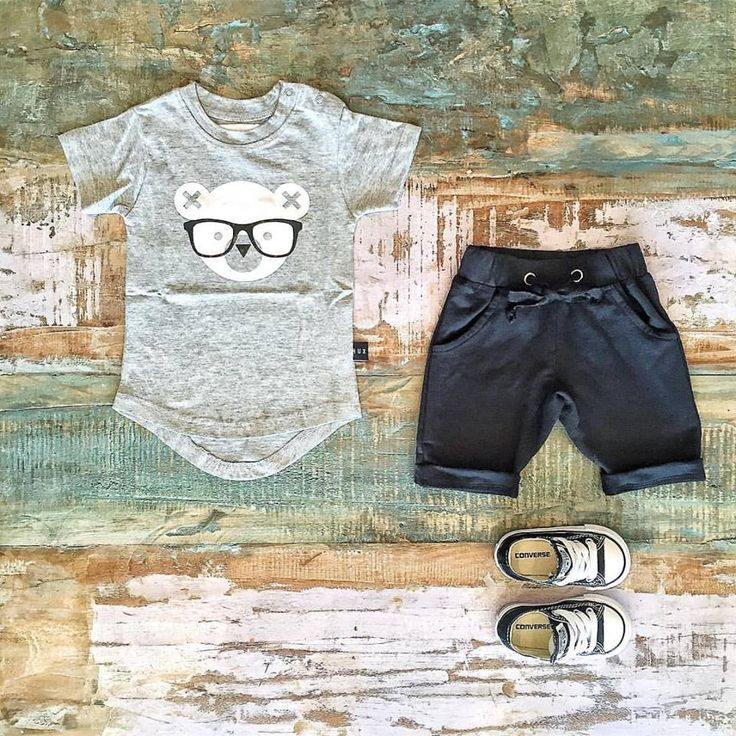 Huxbaby 'nerd bear' tee, Sweet Child of Mine shorts & Converse sneakers. Shop these styles via link below.   www.tinystyle.com.au/shop-insta  #huxbaby #coolkidsclothes #toddlerfashion #tinystyle