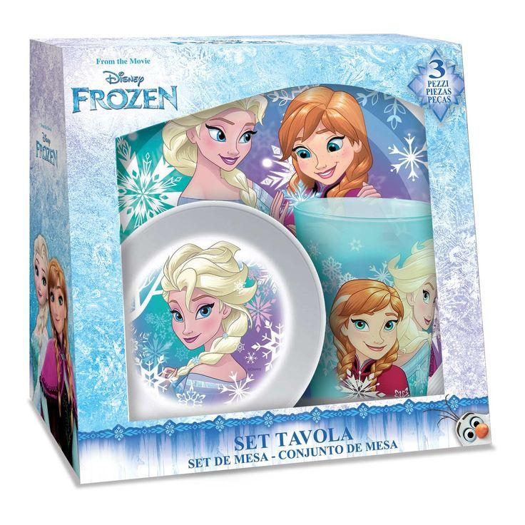 Start je ochtend goed met de Frozen ontbijtset! In dit melamine ontbijtsetje vind je een beker, kommetje en een bord met de prinsessen uit Disney Frozen. De set is vaatwasbestendig. Afmeting: verpakking 21,5 x 21 x 9,5 cm - Frozen Melamine Ontbijtset, 3dlg
