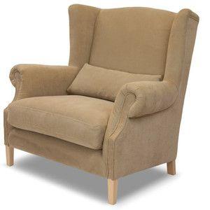 Beżowy fotel Rodier Alpaga