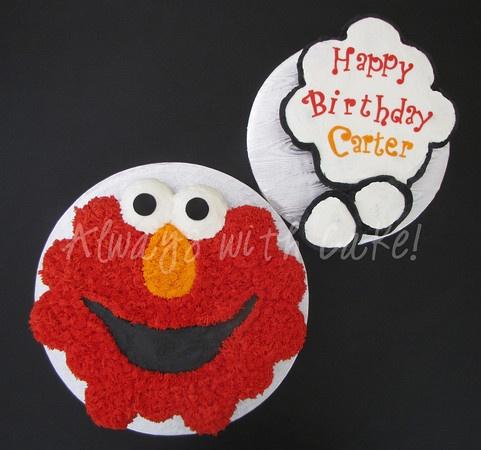 pull apart cupcake cakeCupcakes Cake, Apartments Cake, Cake Design, Elmo Cake, Pull Apart Cupcakes, Cupcake Cakes, Elmo Cupcakes, Pulled Apartments Cupcakes, Birthday Ideas