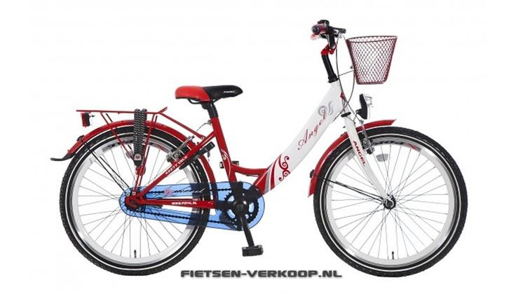 Meisjesfiets Angel Rood 22 Inch | bestel gemakkelijk online op Fietsen-verkoop.nl