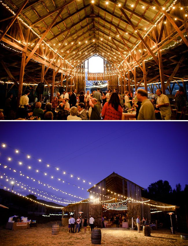 Simple barn, awesome lights!