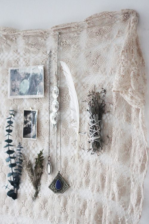 Crochet Wall Hanging as bulletin board