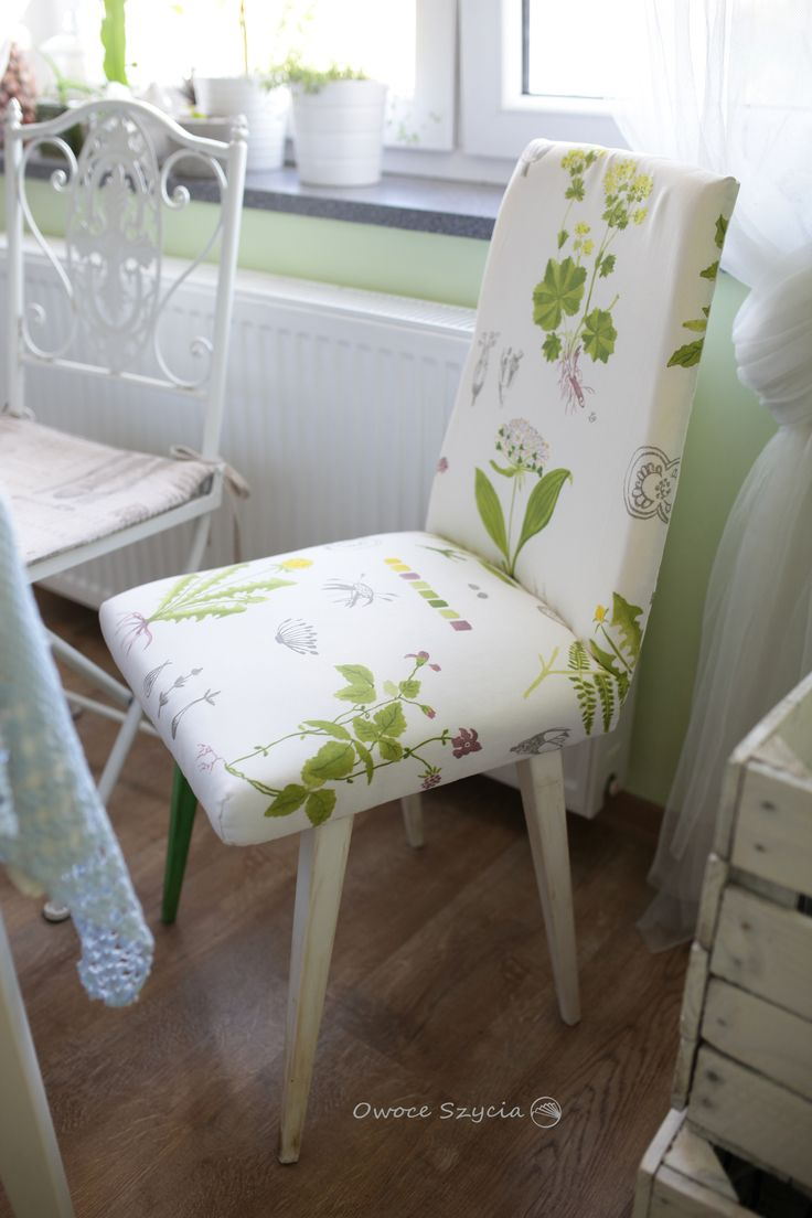 #owoceszycia Recycled chair, handmade/upholstered by me.