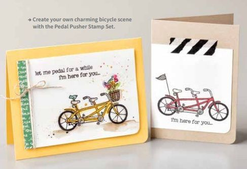 Stampin' Up! just released new items that you can earn for FREE during Sale-A-Bration! Pedal Pusher Stamp Set