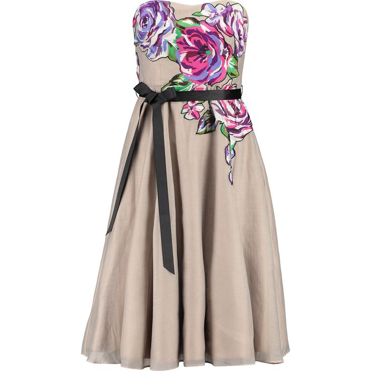 Coast Taupe Floral Print Skater Dress