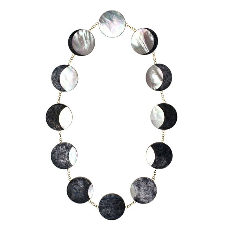 PHILIP SAJET Silver Gold and Mother of Pearl Eclipse NecklacePearls Eclipse, Philip Sajet, Jewelry Necklaces, Eclipse Necklaces, Silver Gold, Mothers Of Pearls, Eclipes Necklaces, Pearls Eclipes, Sajet Silver