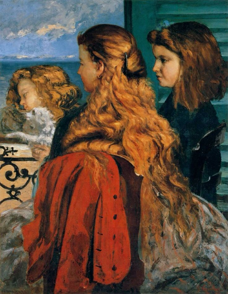 Gustave Courbet, Three England Girls at a window