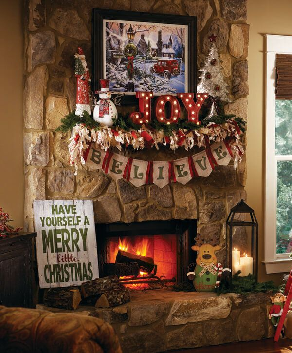 how to decorate your mantel for christmas my kirklands blog christmas ideas pinterest christmas christmas decorations and decor - How To Decorate A Fireplace For Christmas