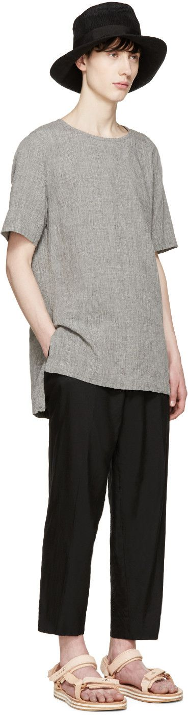 Attachment - Grey Linen T-Shirt