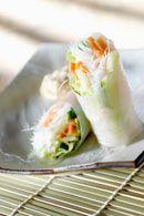 Healthy Asian Recipes: Vietnamese Chicken Rice Paper Rolls. weightloss.com.au  #HealthyRecipes #WeightlossRecipes #DietRecipes