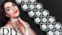 """DIY: Wedding """"Luxury"""" beaded choker (necklace) with pearls - YouTube"""