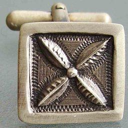 Tapa Designer Sterling Silver Cufflinks