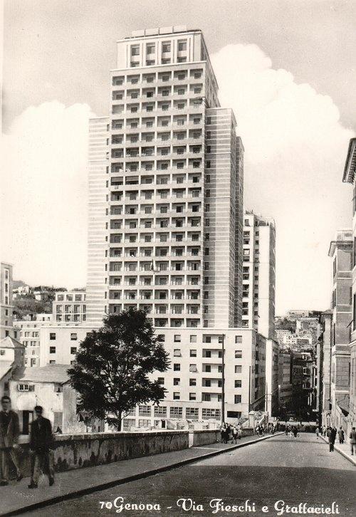 1930 Futuristic Architecture (Genova Italy). The first Italian Skyscraper.