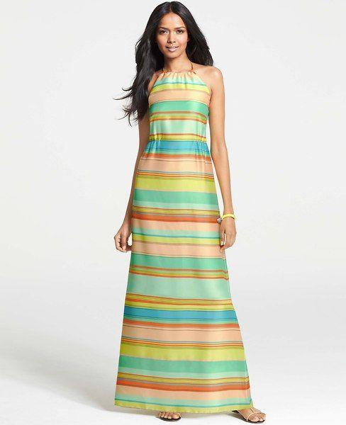 Ann Taylor maxi dress... love the multi stripes