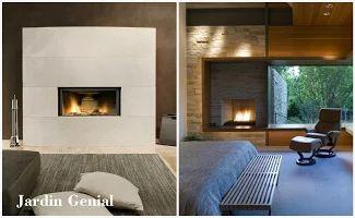 Лаконичные современные порталы  для каминов могут задать тон всему пространству. Они могут  внести в интерьер различные  фактуры: гладкую или объемную,  так же текстуру: камень, металл,  дерево, бетон, стекло и плитку.   Такие порталы могут занимать  целую стену, либо широкую  полосу от пола до потолка,  задающую основной цвет.   Такой камин может быть  фокусной точкой в дизайне  интерьера, а может становиться ею только в момент горения огня.   Кому-то подобная простота  кажется скучной…