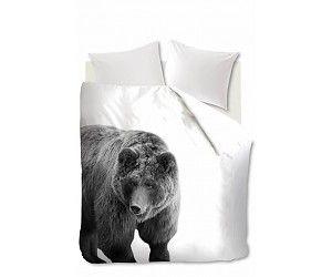 Mooi dekbedovertrek Bear met grote beer. Bestel direct op Hipdekbedovertrek.nl