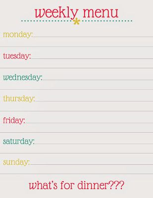 90 best Free Weekly Menu Planners images on Pinterest Free - menu template word free