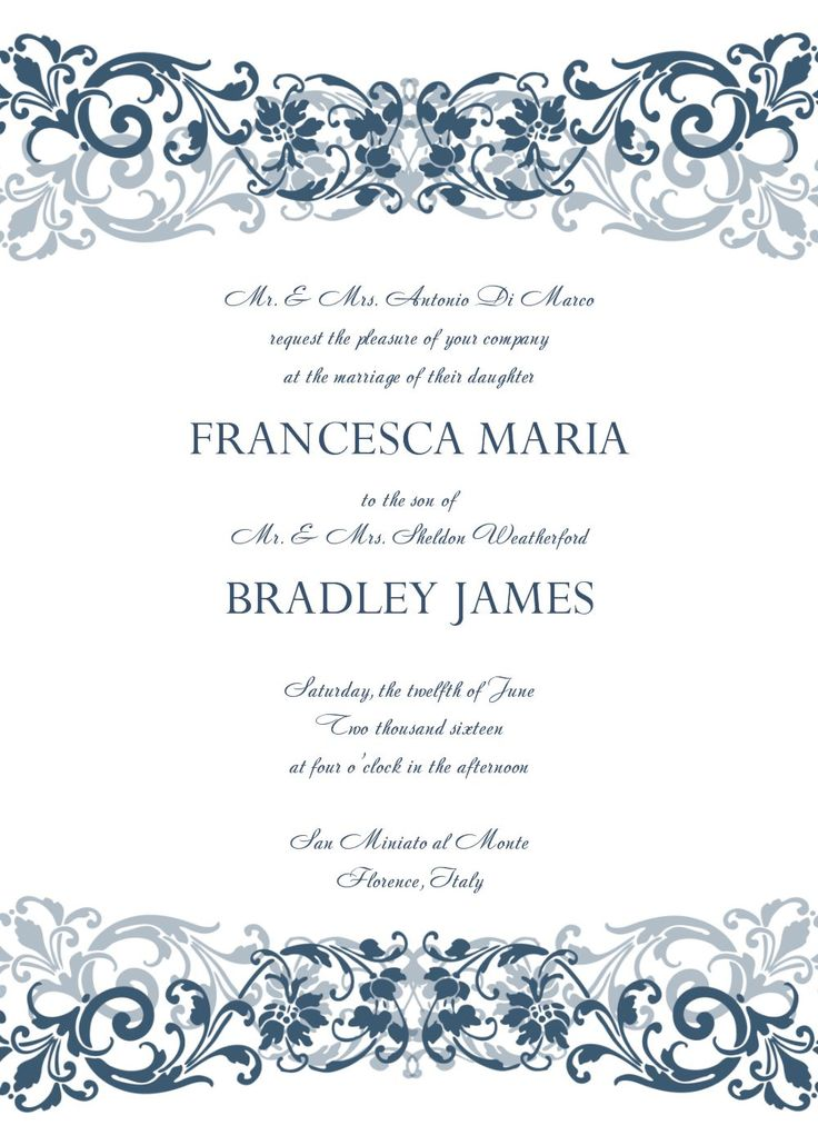 359 best wedding invitations images on Pinterest Invitation card - free printable wedding invitation templates for word