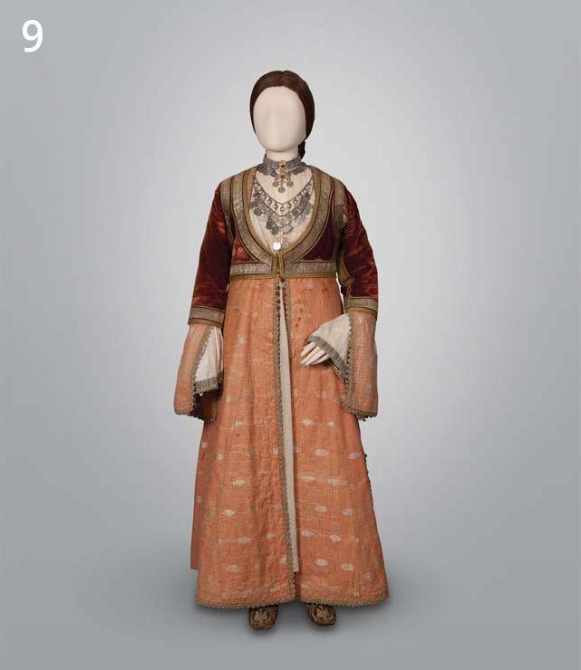 national costume in Pyrgos, Ilia, Peloponnese, Greece