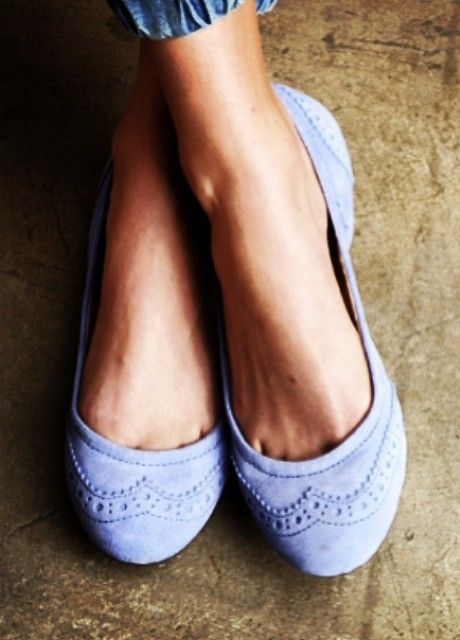 Perfect suede #flats. This color is so fresh and pretty!