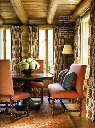 Style and colors!! love the ceiling...