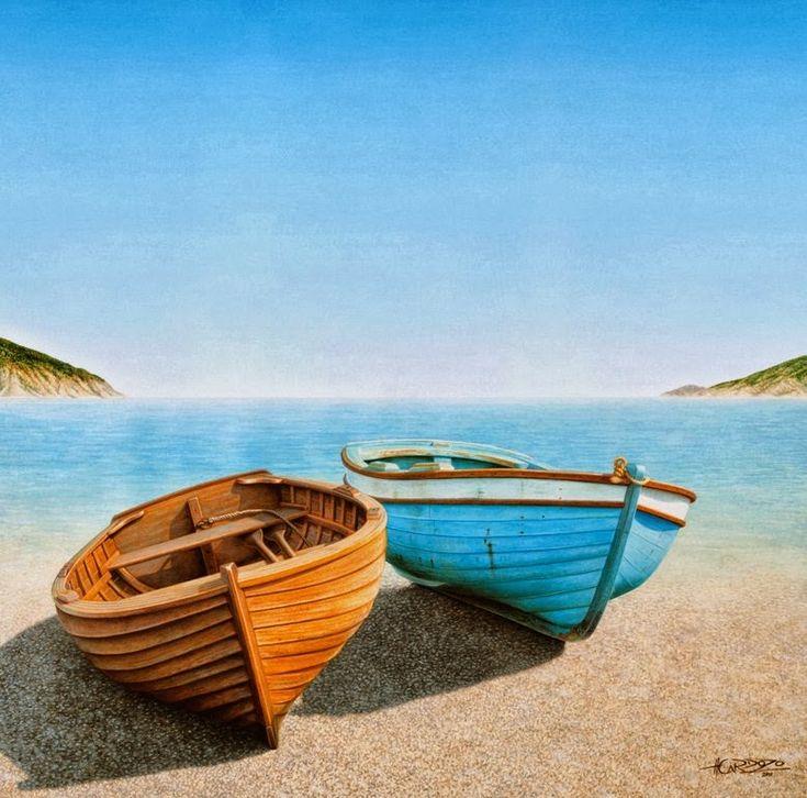 M s de 25 ideas incre bles sobre pinturas paisajes marinos - Pinturas baratas online ...