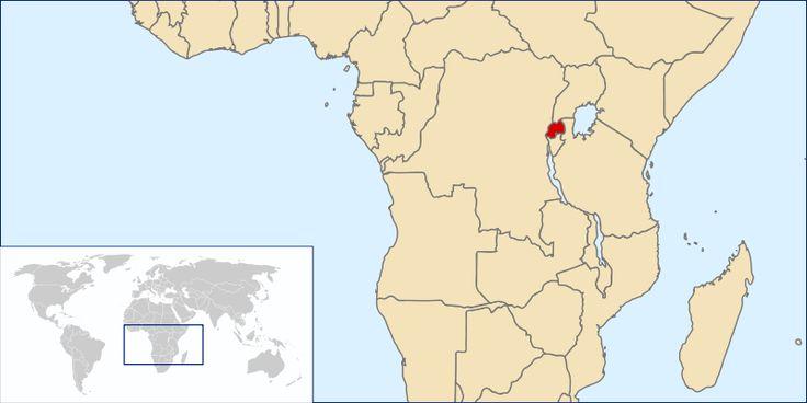 Rwanda's location in Africa.