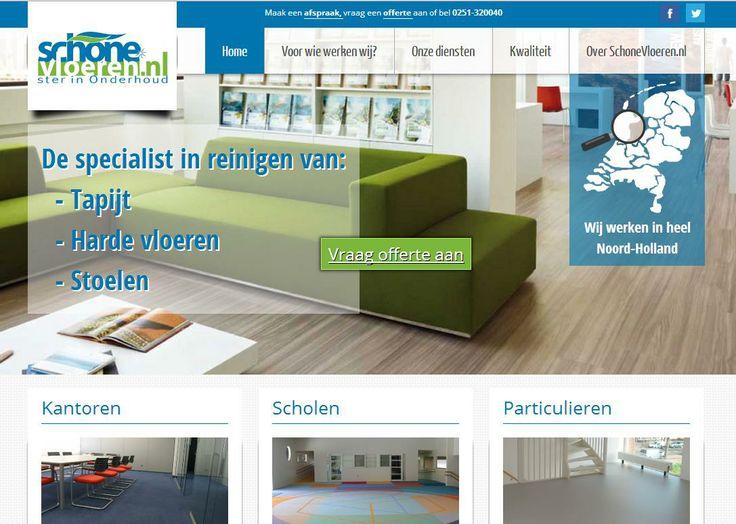 Nieuwe volledig responsive website voor de specialisten in het reinigen en onderhoud van tapijt, linoleum, harde vloeren en meubels in kantoren, scholen, gezondheidszorg, horeca, industrie en bij particulieren: http://www.schonevloeren.nl