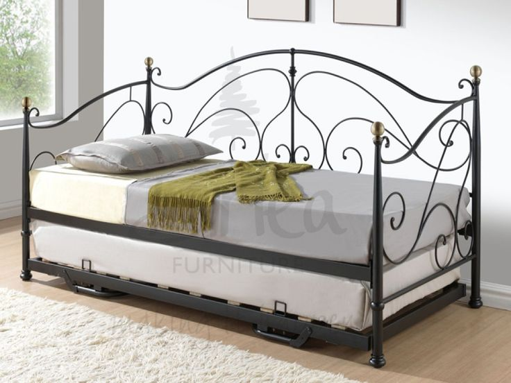 Milano Black Metal Day Bed & Trundle with Free Delivery