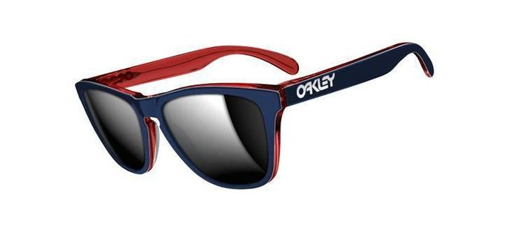 Oakley Frogskin LX Navy/Chrome Iridium Sunglasses OO204305
