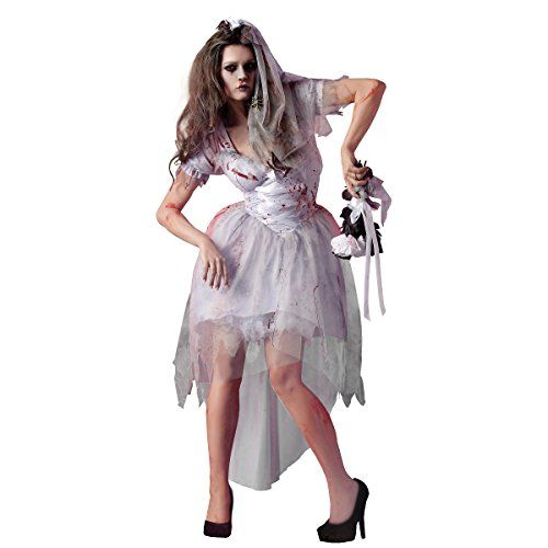 woman plus size zombie bride halloween costume ca 95