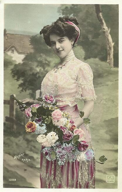 Edwardian tinted postcard, Paris, France