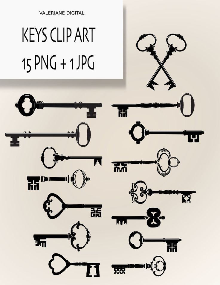 Keys ClipArt Digital clipart keys for by ValerianeDigital. $2.50 USD, via Etsy.