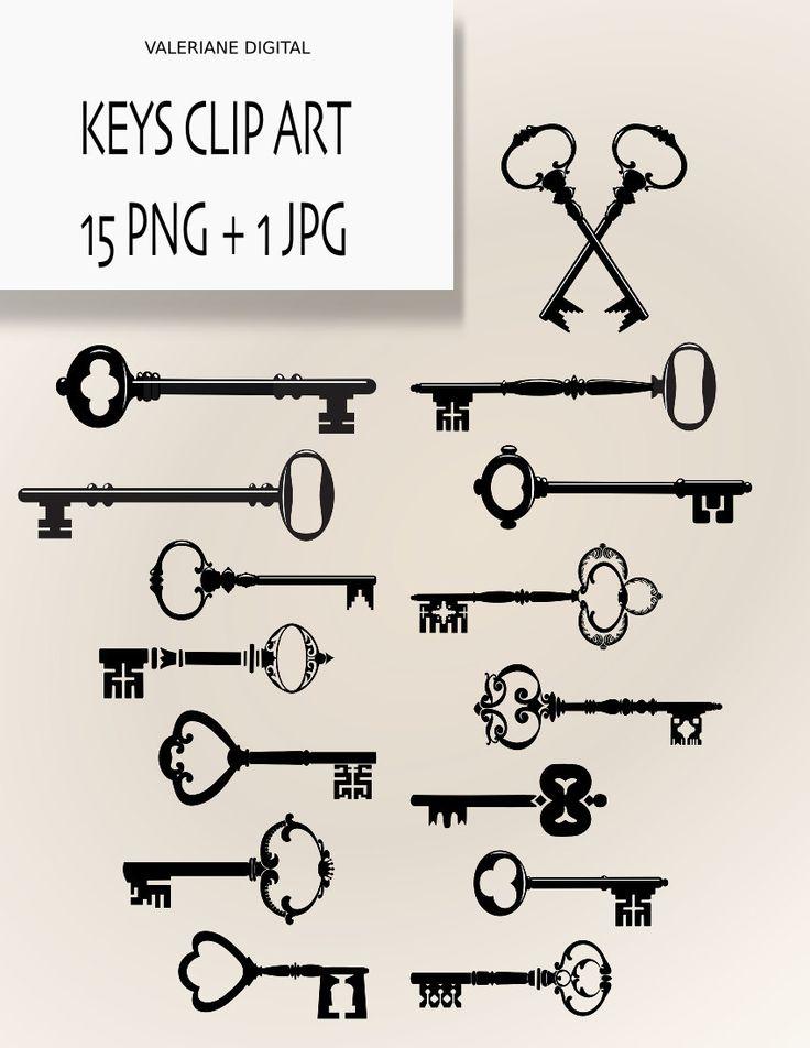 Keys ClipArt Digital clipart keys for by ValerianeDigital. $2.50 USD, via Etsy.