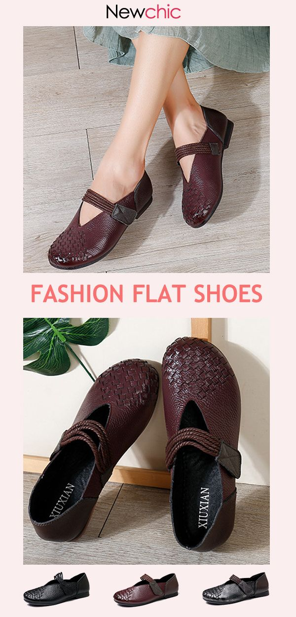 e9c18e2367fd2 【50% OFF】Women Vintage Breathable Genuine Leather Hook Loop Flat  Shoes#fashion#womenfashion#fashionshoes