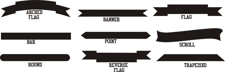 Vector Text Generator : Banners and tails clip art graphics pinterest