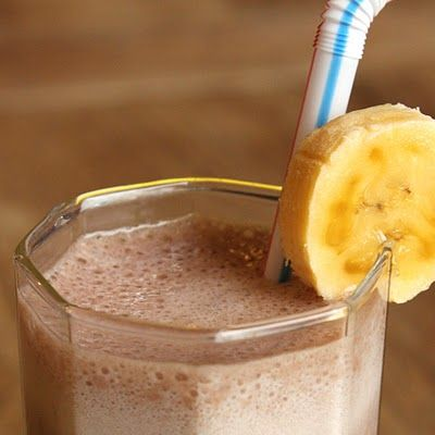 lactose free banana chocolate smoothie
