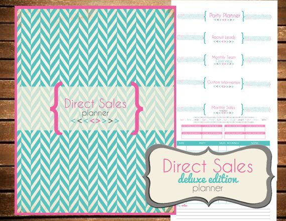Instant Download - Direct Sales Party Planner Deluxe Edition - Printable Planner Organizer  - Home Party Planner