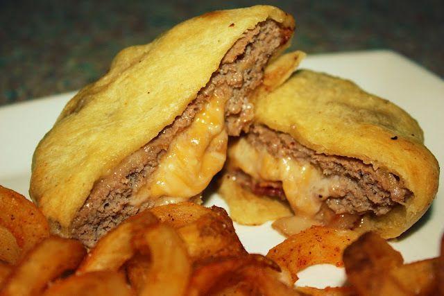 crescent roll burgers - delicious!