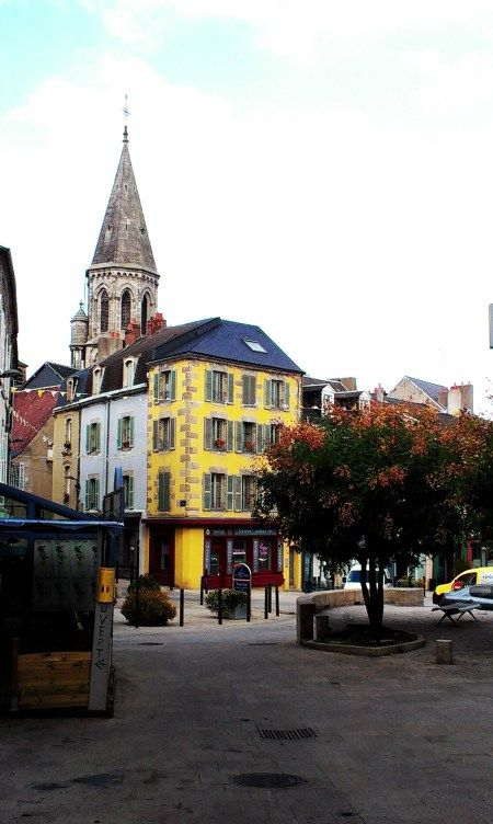 """downtown"" Guéret, Limousin, France"