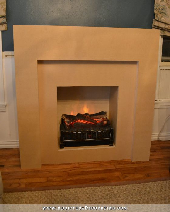 diy fireplace part 2 the basic structure finished. Black Bedroom Furniture Sets. Home Design Ideas